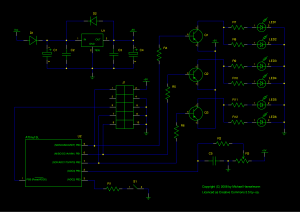 Schematics of multi-LED, colour selection version